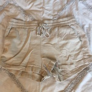 Tan Paper Love Tree Los Angeles Bag Shorts Size L